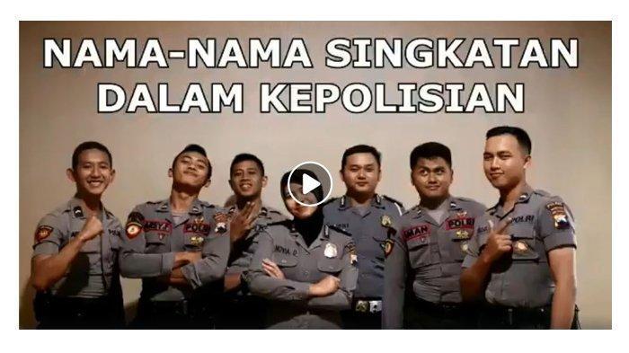 Tujuh Polisi Ini Sebut Nama Singkatan dalam Kepolisian, dari Tersangka Hingga STNK, Videonya Viral
