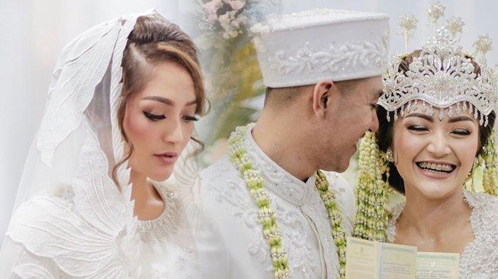 Siti Badriah dan Krisjiana Baharudin bahagia saat akad nikah