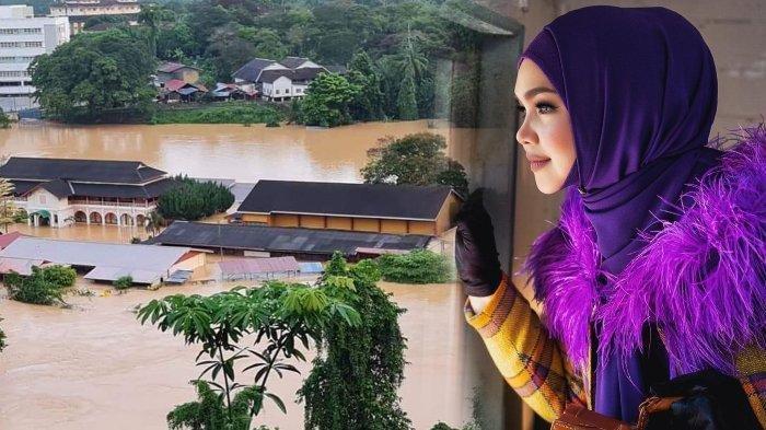 Siti Nurhaliza Sedih Melihat Sekolahnya Terendam Banjir Parah Hingga Setinggi Atap