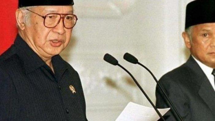 Soeharto Minta Maaf dan Tetap Mendoakan Indonesia Tetap Jaya Sebelum Lengser dari Istana Merdeka