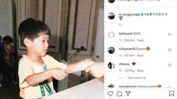 Song Joong Ki Sudah Ganteng Sejak Lahir, Ini Buktinya saat Sang Idol Pamer Foto Masa Kecilnya!