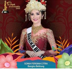 Sonia Fergina Citra Puteri Indonesia 2018, Bangka Belitung Bangga