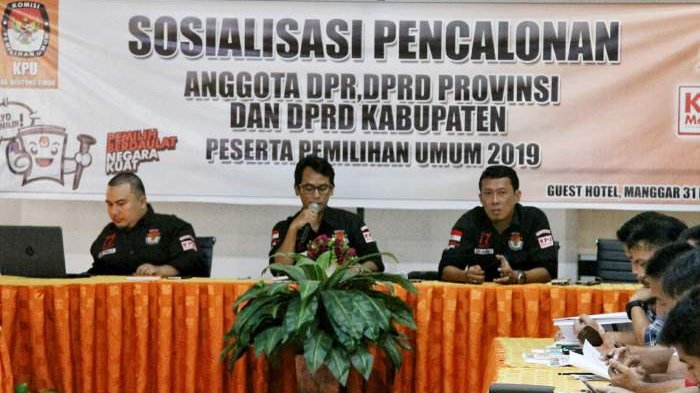 KPU Beltim Sosialisasi Pencalonan Anggota DPR, DPRD Provinsi dan DPRD Kabupaten