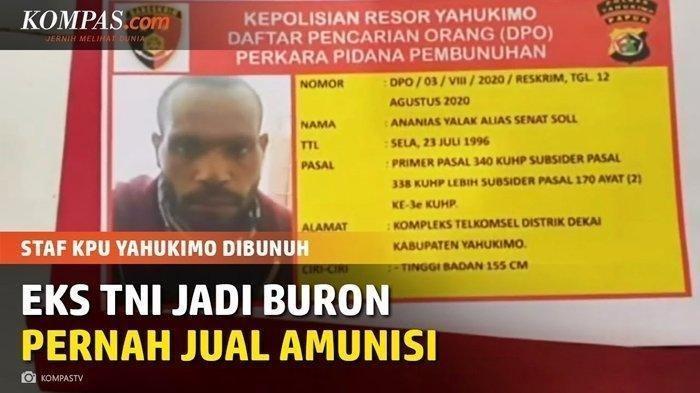 Sosok Senat Soll, Pecatan TNI Membelot Bela KKB, Meninggal dalam Perawatan Akibat Kena Tembakan