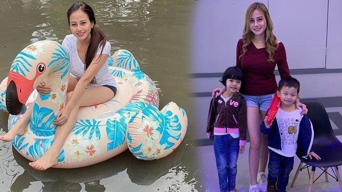 Wanita Cantik Naik Ban Bebek di Tengah Banjir Jakarta Viral, Ternyata Model dan Ibu Tunggal 2 Anak