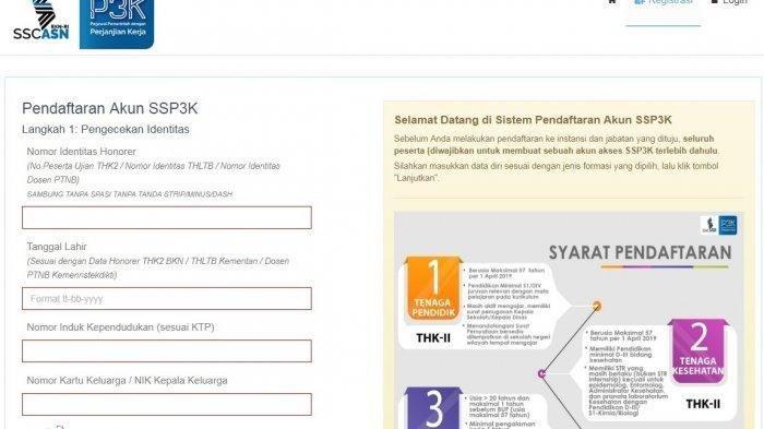 Link sscasn.bkn.go.id Bisa Diakses, Buat Akun SSP3K di ssp3k.bkn.go.id untuk Daftar PPPK (P3K) 2019