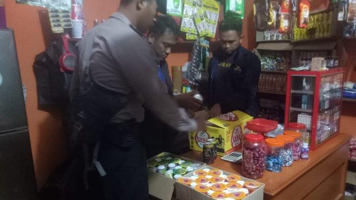 Empat Dus Miras Diamankan Tim Gabungan dari Toko Kelontong di Gantung Belitung Timur