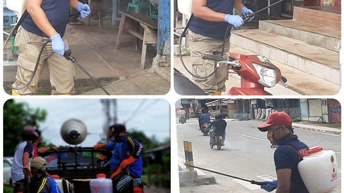 BPBD Belitung Timur Semprot Disinfektan ke Pasar dan Tempat Ibadah