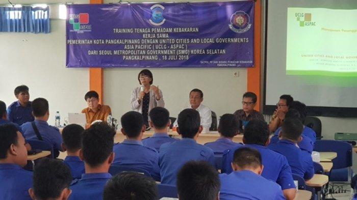 Ratusan Personel Damkar Pangkalpinang Ikut Training dengan UCLG Aspac dan Pemkot Seoul Korea Selatan