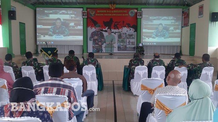 Dengarkan Pesan Kasad di Video Confrence Kodim 0414 Belitung, Seleksi Tamtama Tak Dipungut Biaya