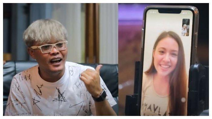 Sule video call dengan Baby Shima, Sabtu (9/5/2020).