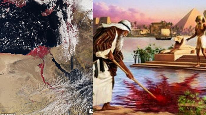 Persis Seperti Kisah Nabi Musa, Foto Angkasa Sungai Nil Berwarna Merah