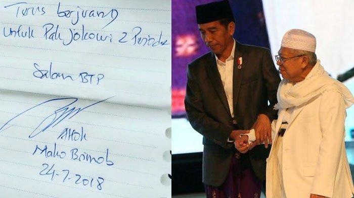 Ini Reaksi Ahok, Setelah Jokowi Pilih Ma'ruf Amin Jadi Cawapres di Pilpres 2019