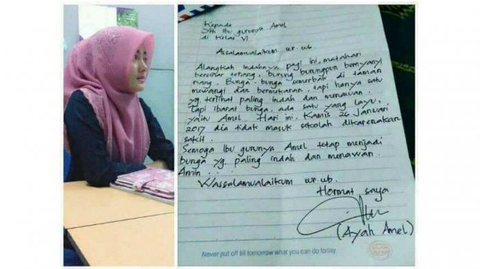 Romantisnya Surat Balasan Bu Guru untuk Ayah Amel yang Bikin Klepek-klepek