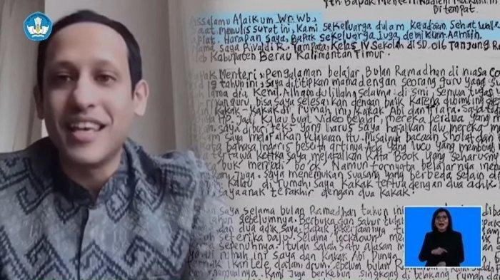 Siswi SD di Madura Curhat Ke Menteri Pendidikan Nadiem Makariem, Tak Bisa Beli Paket Internet