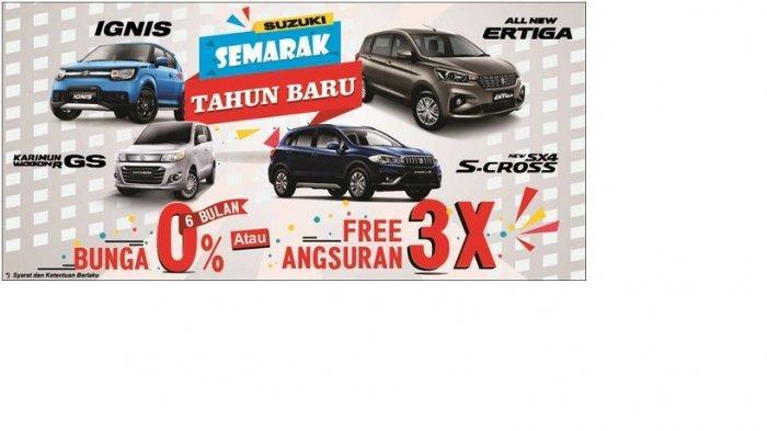 Suzuki Promo Semarak Tahun Baru Dengan Free Angsuran Tiga Bulan