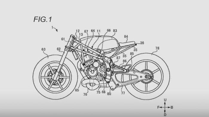 Desain Motor Baru Suzuki Bocor, Bentuknya Mirip Cafe Racer