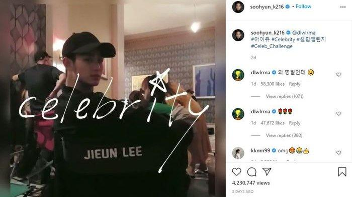 Gemasnya Kim Soo Hyun Beri Dukungan ke IU saat 'Celebrity Challenge'
