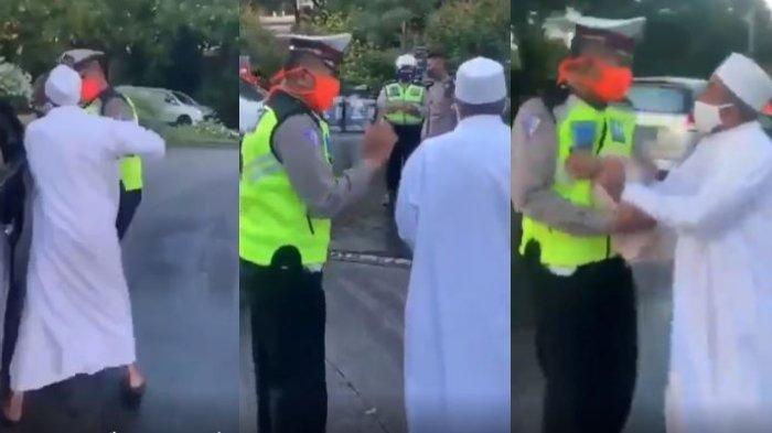 Viral Pria Berjubah Putih Cekcok dengan Petugas, Polisi Temukan Identitas Pemilik Mobil N-1-B