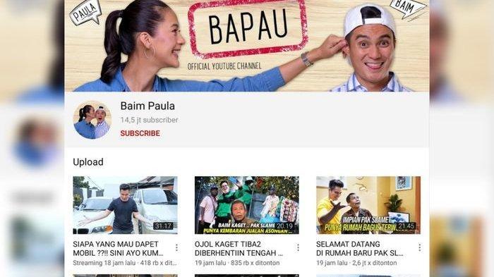 Channel Baim Paula Jadi YouTuber dengan Pendapatan Tertinggi! Tak Disangka Ada Rahasia ini