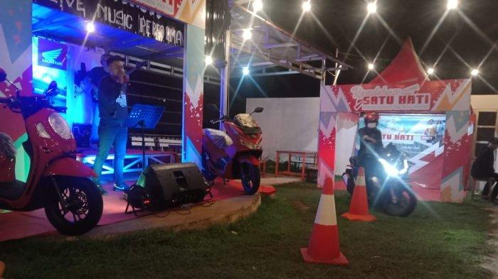 Tunas Dwipa Matra (TDM) Gelar Roadshow Sekaligus Launcing Honda New Scoopy di Mr Jhon Cafe Manggar