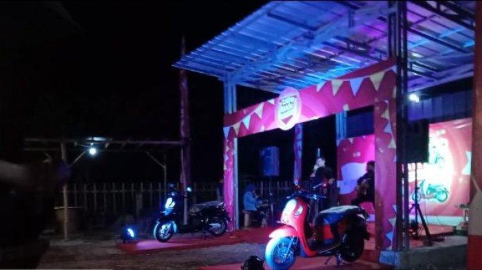 Tunas Dwipa Matra Gelar Roadshow Sekaligus Launcing Honda New Scoopy di MY Box Cafe Gantung