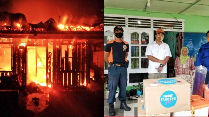 Lagi Main Hape Tiba-tiba Lihat Percikan Api di Atap, Rumah Ana di Gantung Ludes Terbakar