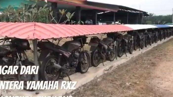 Pria Thailand Ini Bentengi Rumahnya dengan Pagar Terbuat dari Puluhan Sepeda Motor