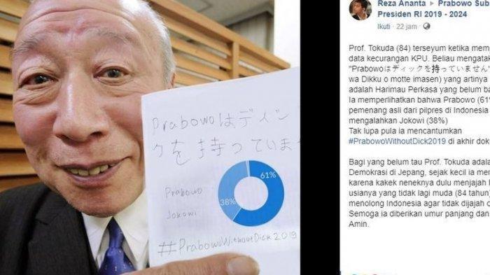 Prof Tokuda yang Ungkap Kecurangan KPU Ternyata Kakek Sugiono Bintang Porno