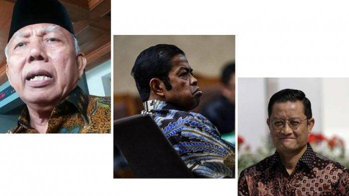 Kolase foto tiga Menteri Sosial. Dari kiri ke kanan: Bachtiar Chamsyah, Idrus Marham, Juliari Batubara.