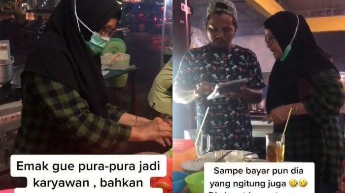 Video Sang Anak Rekam Aksi Emaknya Layani Pembeli di Rumah Makan Viral, Sampai Bayar Ngitung Sendiri