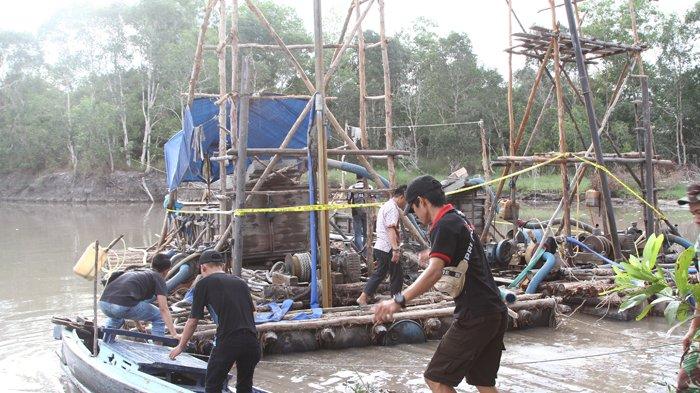 Wakil Bupati Beltim Pimpin Operasi Razia TI Rajuk di DAS Lenggang Kecamatan Gantung