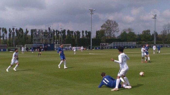 Akhiri Latihan Panjang di Inggris,  Garuda Select 2 Kali Jebol Gawang Tim U-16 Chelsea