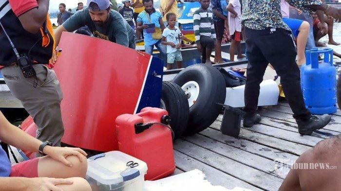 Pilot Sempat Teriak 'Mayday', Pesawat Pengangkut Sembako ini Jatuh di Danau Sentani