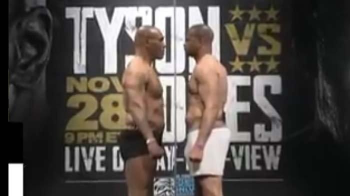 Hasil Timbang Badan Mike Tyson Vs Roy Jones Jr, Si Leher Beton Lebih Besar, Besok Pasti Menang?