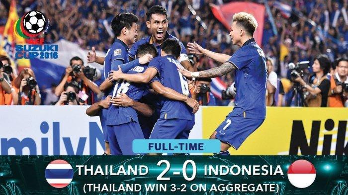 Dikalahkan Thailand 2-0, Timnas Indonesia Gagal Juara