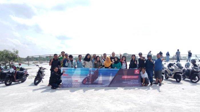 Touring Wisata Bahari Ikatan Motor Honda Belitung Kunjungi Dua Destinasi Wisata