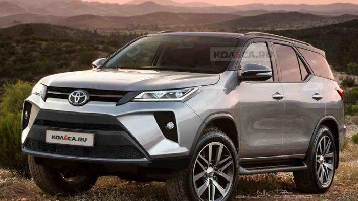 Hasil olah digital Toyota Fortuner facelift.