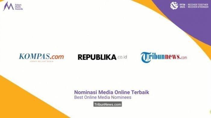 Tribunnews.com Raih Adam Malik Awards 2021, Kategori Media Online Terbaik