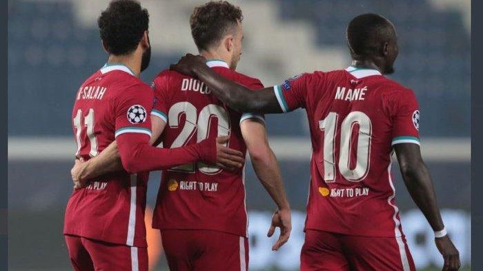 Hasil Liga Champions, Diogo Jota Menggila, Trisula Baru Liverpool Ganas, The Reds Libas Atalanta 5-0