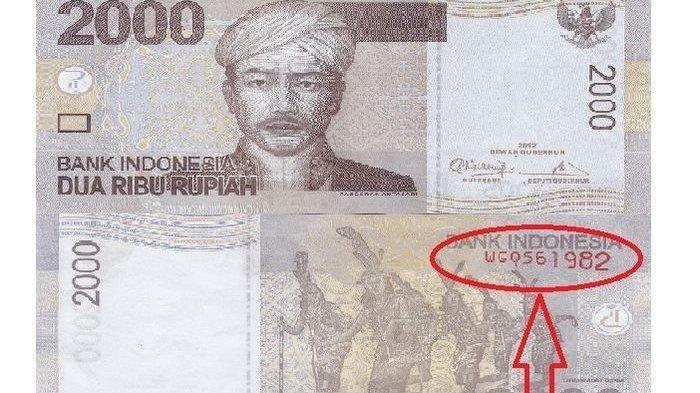 Ciri-ciri uang kertas Rp 2.000 yang dihargai sangat mahal oleh kolektor uang