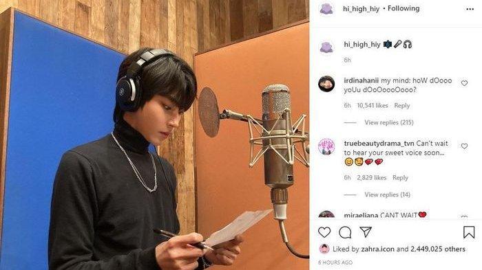 Duh Bang Makin Cakep! Hwang In Yeop Unggah Foto di Studio Rekaman Jelang Perilisan OST 'True Beauty'