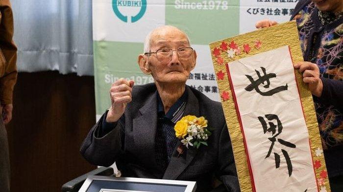 112 Tahun, Kakek di Jepang ini Dinobatkan Sebagai Orang Tertua di Dunia, Begini Ternyata Rahasia