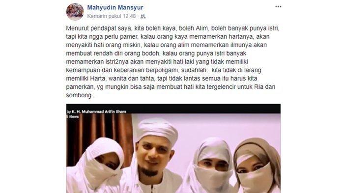 Ustaz Arifin Ilham Pamer Tiga Istri di Medsos, Sosok Bukan Orang Sembarangan Ini Sindir Sombong