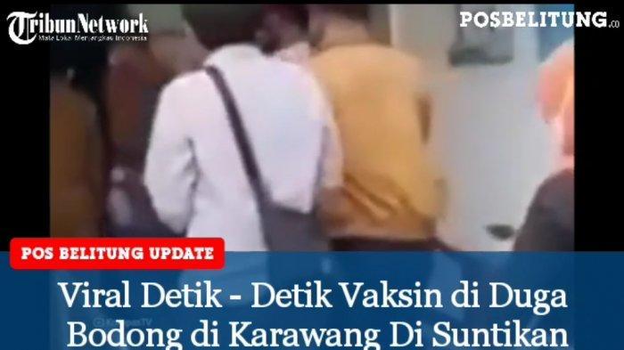 Viral Detik-Detik Vaksin Diduga Bodong di Karawang Disuntikan