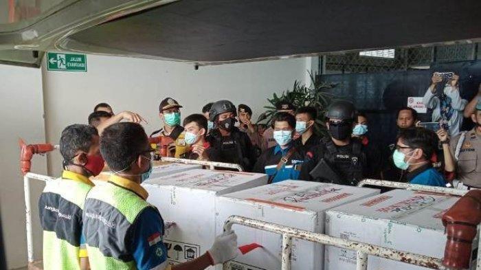 Vaksin Covid-19 untuk Bangka Belitung Disimpan di Dinkes Babel, Dijaga Ketat Brimob