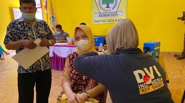 DPD Partai Golkar II Belitung Gelar Vaksinasi Covid-19