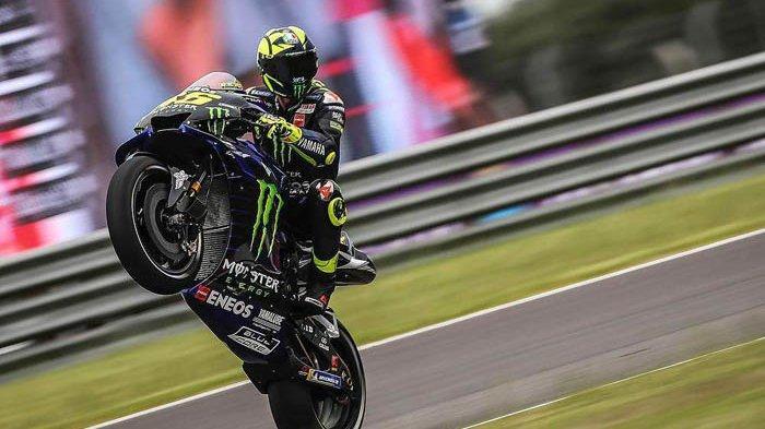 Valentino Rossi Akhiri 11 Seri Tanpa Podium di GP Argentina, Kudeta Dovizioso di Lap Akhir
