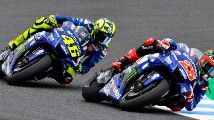 Gantian Maverick Vinales Melesat, Valentino Rossi Malah Terbenam saat Tes Kedua MotoGP Spanyol 2020