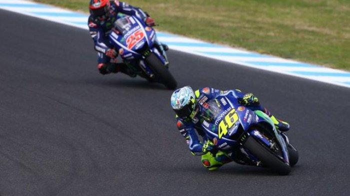 Valentino Rossi dan Maverick Vinales Tes 4 Motor Yamaha di Sepang